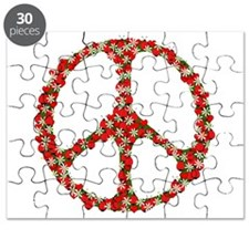 Ladybugs Peace Sign Puzzle