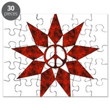 Red Peace Star Puzzle