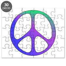 Classic Rainbow Peace Sign Puzzle