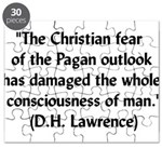 DH Lawrence Pagan Quote Puzzle