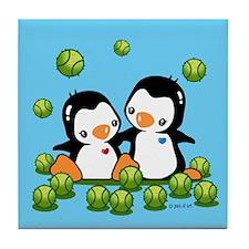 Cute Penguins Tile Coaster