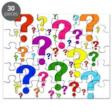 Rainbow Question Marks Puzzle