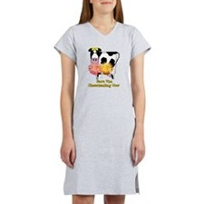 Cheerleading Cow Women's Nightshirt