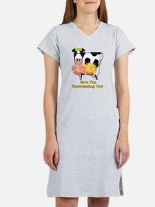 Cheerleading Cow Women's Nightshirt