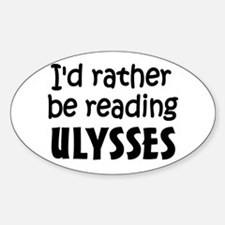Reading Ulysses Sticker (Oval)