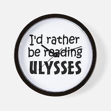 Reading Ulysses Wall Clock