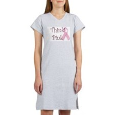 Think Pink (1) Women's Nightshirt