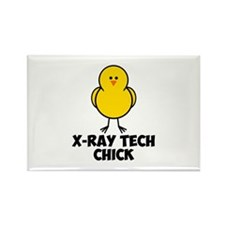X-Ray Tech Chick Rectangle Magnet