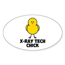 X-Ray Tech Chick Decal
