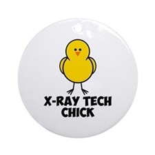 X-Ray Tech Chick Ornament (Round)