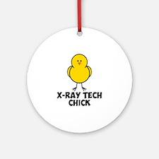 X-Ray Tech Chick Ornament (Round)