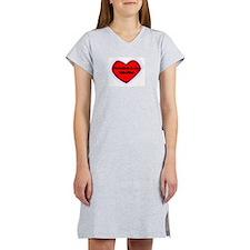 Grandma is My Valentine Women's Nightshirt