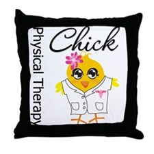 Physical Therapy Chick Throw Pillow