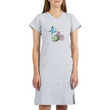 Easter Egg with Butterfly Women's Nightshirt