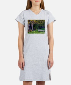 Bench in the Forest Women's Nightshirt