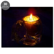 Romantic Cat Candle Puzzle