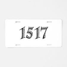 1517 Aluminum License Plate