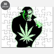 Halloween Weed Leaf Dracula Puzzle