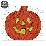 Grinning Halloween Pumpkin Puzzle