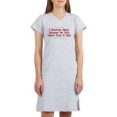 Divorced Santa Women's Nightshirt