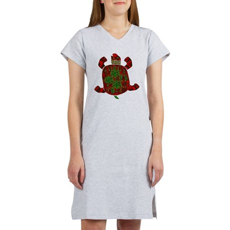 Red African Turtle Women's Nightshirt