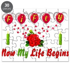 Life Begins At Fifty Puzzle