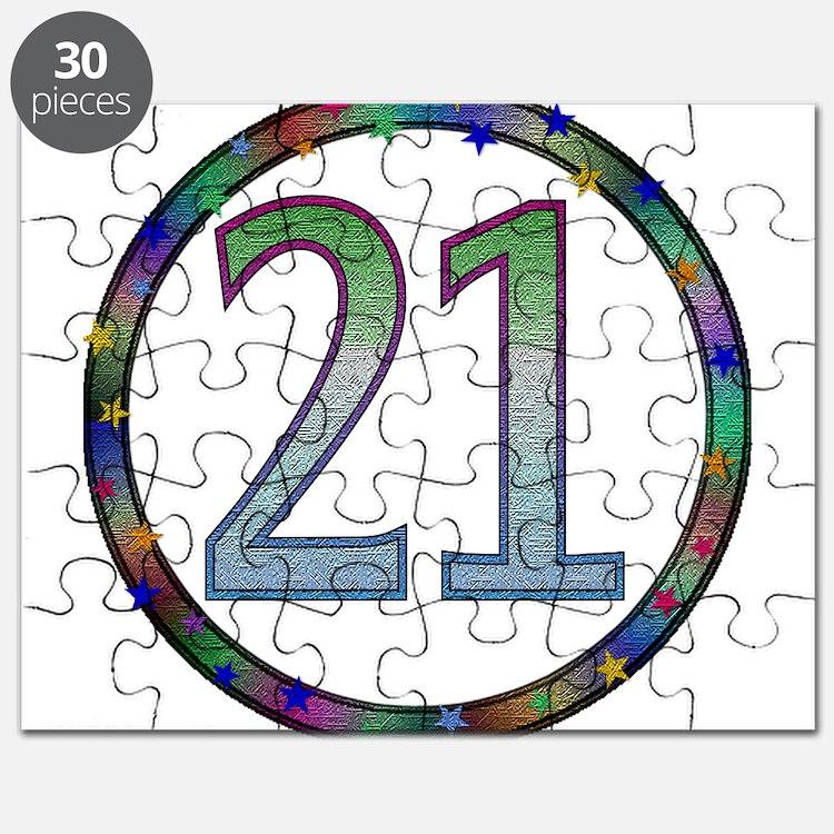 21st Birthday Shirt Puzzle