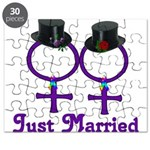 Just Married Formal Lesbian Puzzle