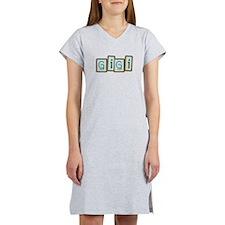 GiGi (block letters) Women's Nightshirt