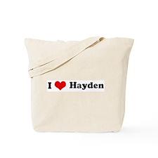 I Love Hayden Tote Bag