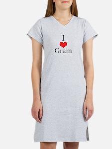 I Love (Heart) Gram Women's Nightshirt
