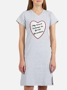 My Heart Belongs to Great Gra Women's Nightshirt