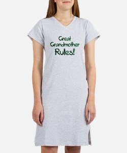 Great Grandmother Rules! Women's Nightshirt