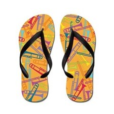 Colorful Trombones Flip Flops