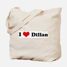 I Love Dillan Tote Bag