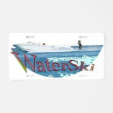 Water ski Aluminum License Plate