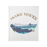 Water ski Throw Blanket