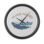 Water ski Large Wall Clock