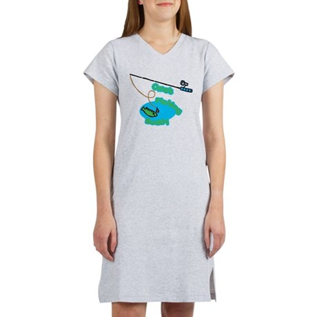Oma's Fishing Buddy Women's Nightshirt