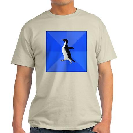 Socially Awkward Penguin Light T-Shirt