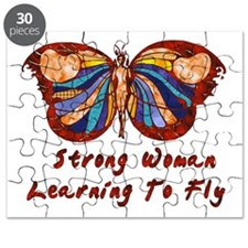 Strong Woman Learning To Fly Puzzle