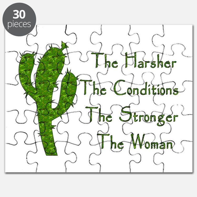 Harsh Conditions Strong Woman Puzzle