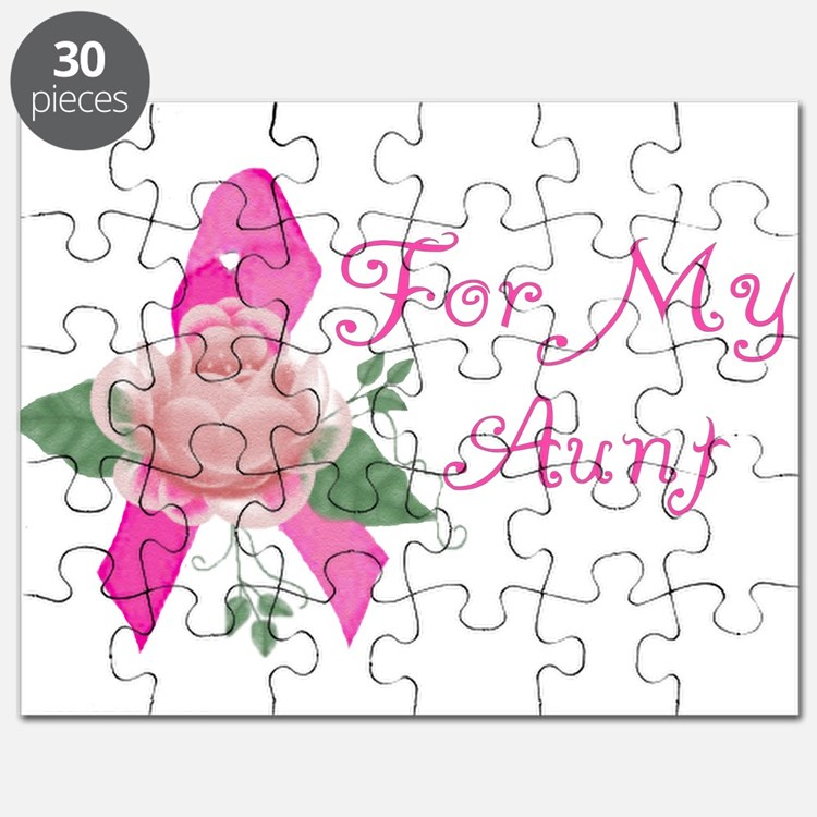 Breast Cancer Support Aunt Puzzle