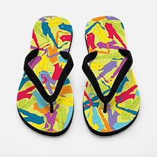 Colorful Saxophones Flip Flops