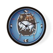 White Buffalo Shield Wall Clock