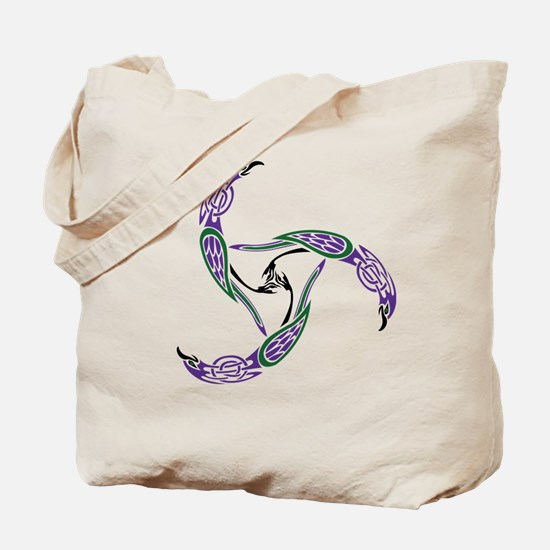 Knotwork Ravens Tote Bag