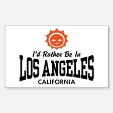 I'd Rather Be In Los Angeles Decal