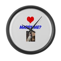 Marry Me? Large Wall Clock