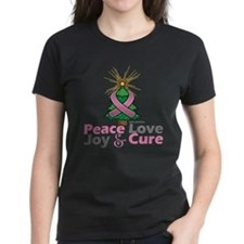 Breast Cancer Xmas Tree Ribbo Tee