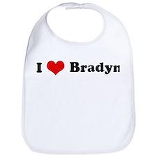 I Love Bradyn Bib